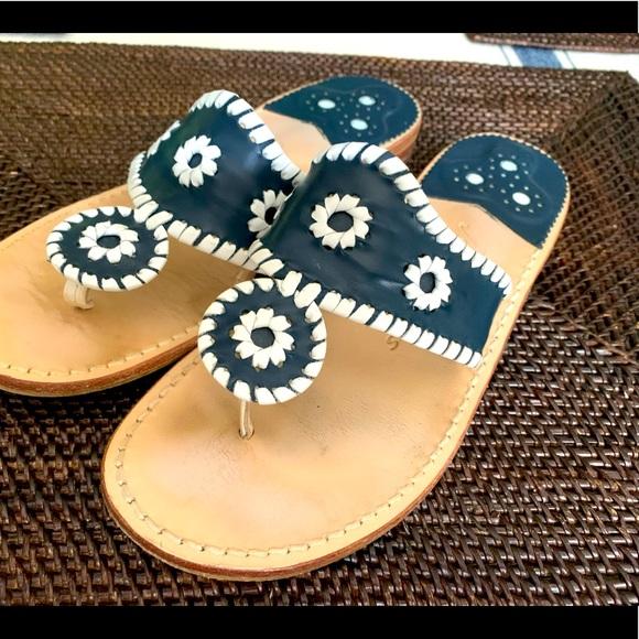 Jack Rogers navy sandals